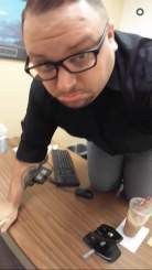 Nick on Desk